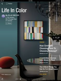 Flip through Life In Color by ELLE DECOR http://flip.it/vBKXI