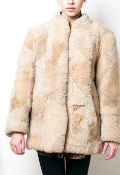 60s vintage sheepshin patchwork winter coat   Pop Sick   ASOS Marketplace
