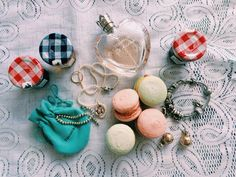 Macarons and jewelry