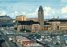 Helsingin Rautatieasema 60-l. alussa Helsinki Railway station early 60's