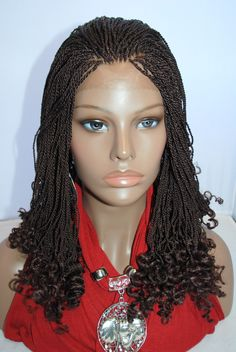 Fully Hand Braided Lace Front Wig SenegaleseTwists Color