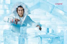 Pure Water Evian advertising Eskimo pic on Design You Trust #Water #Advertising
