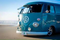 blue bus by the sea ◉ pinned by  http://www.waterfront-properties.com