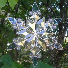 snowflake patterns for stained glass | Snowflake Collection stained glass pattern $5.00. E-mail. Free stained ...