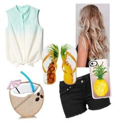 Beach by brynleeivie on Polyvore featuring polyvore, moda, style, Gap, Venus, Casetify, fashion, clothing and statementbags