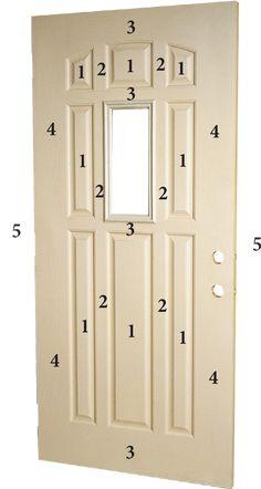 Fiberglass Doors Staining Guide | Old Masters Stained Front Door, Painted Front Doors, Staining Fiberglass Door, Faux Wood Paint, Metal Containers, Diy House Projects, Wood Surface, Steel Doors, Exterior Doors