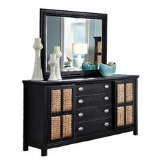 Pacifica 4 Drawer Dresser with Mirror