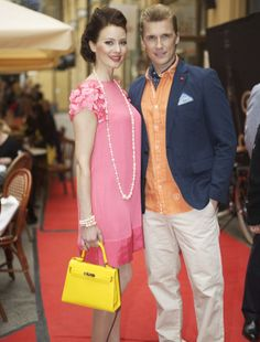 Miss Finlandia wearing a Carbotti bag #handbags #manufacturing #timelessbag #carbottibags #MissFinland Only on www.geonatshop.com