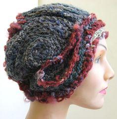 Spring SALE- Berry Rings- freeform crochet hat