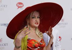 Singer Cyndi Lauper arrives for the 138th Kentucky Derby horse race at Churchill Downs Saturday, May 5, 2012, in Louisville, Ky