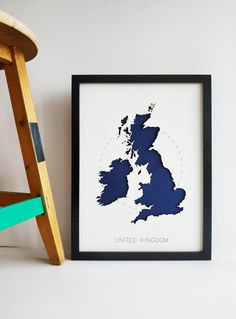 New unique United Kingdom wall art and England, Scotland home decors. You may complete your British style home decoration with this UK map art.  These new England wall decor will give a chic atmosphere to your house and it will be amazing United Kingdom, Scotland home gift! You can customize your 3D World Map Wall Art, 3d Wall Art, Map Art, United Kingdom Map, 3d Laser, British Style, Home Gifts, Scotland, Wall Decor