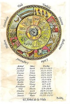 Wheel of the Year with Celtic Tree Calendar
