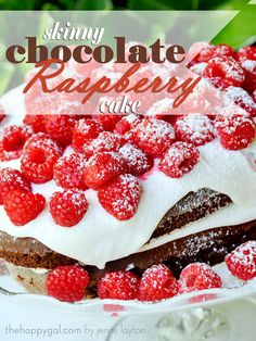 Skinny Raspberry Chocolate Cake