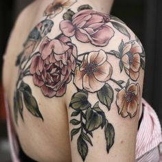 Floral/botanical tattoo by Kirsten Holliday