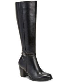 Giani Bernini Raiven Wide-Calf Dress Boots, Created for Macy's - Black 8M