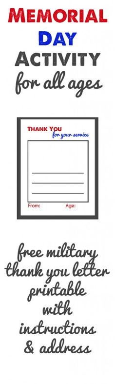 Military Thank You Letter Free Printable