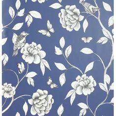 Modern & Contemporary Floral Wallpaper You'll Love | Wayfair.co.uk How To Hang Wallpaper, Wallpaper Paste, Paper Wallpaper, Butterfly Wallpaper, Print Wallpaper, Wallpaper Roll, Blue Feature Wall, Silver Wallpaper, Yellow Paper