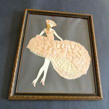 Art Deco Dancing Lady Ribbon Doll Art