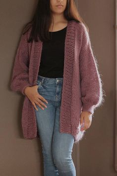 Items similar to Oversized Chunky Knit Sweater with pocket, Loose Knit, Open Style Sweater, Loose Knit, Oversized Knit Cardigan/ Bernadette-vest on Etsy - Cardigan Outfits Oversized Knit Cardigan, Mohair Sweater, Loose Sweater, Knit Sweaters, Sweaters Outfits, Cardigan Outfits, Cardigans, Knit Fashion, Fashion Outfits