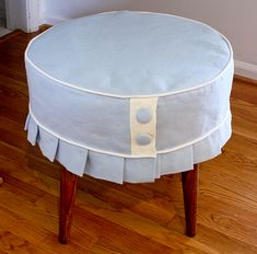 """to do for the """"secret compartment"""" ottoman I found!!!  then use for a vanity seat."""