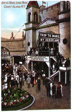 Luna Park's Trip to Mars. Coney Island, New York