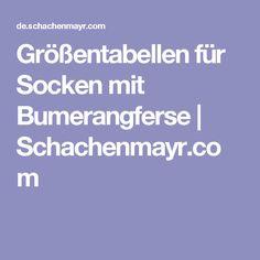 Größentabellen für Socken mit Bumerangferse | Schachenmayr.com