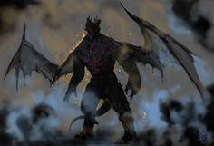 Daimon by Halycon450 demon devil dragonborn wings player character npc monster beast creature animal   Create your own roleplaying game material w/ RPG Bard: www.rpgbard.com   Writing inspiration for Dungeons and Dragons DND D&D Pathfinder PFRPG Warhammer 40k Star Wars Shadowrun Call of Cthulhu Lord of the Rings LoTR + d20 fantasy science fiction scifi horror design   Not Trusty Sword art: click artwork for source