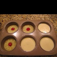 Upside Down Pineapple cakes - minis
