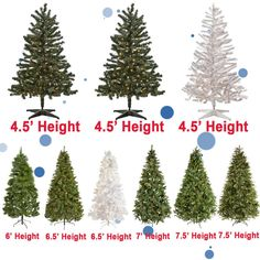 Christmas Holiday New Year 4' 4.5' 6' 6.5' 7' 7.5' Pre-Lit Artificial Tree Light #Adham