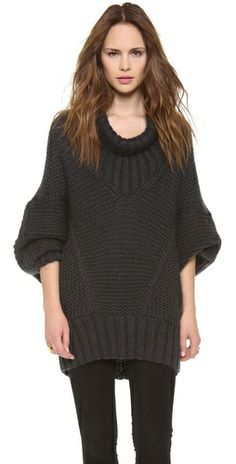 Donna Karan New York Long Sleeve Drape Neck Sweater Review Buy Now