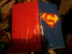 Superman duct tape servers book $25 Alex Draven Designs on facebook and instagram