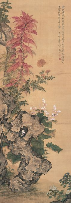 Yun Shouping (恽寿平) , 恽寿平 花卉 1682年作