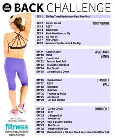 ac708f3c08 Sculpt your back for summer with our 30-day sexy back challenge! Follow  this plan at home with fitness trainer