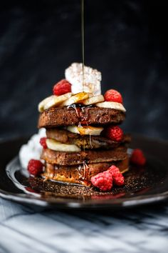 Paleo Banana Bread French Toast | Primal Gourmet food photography, food staying
