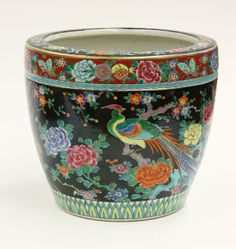 japanese hibachi | 4052: Japanese Enameled Porcelain Hibachi : Lot 4052