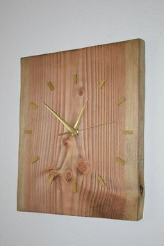 PalletWood / Drevené hodiny Zlatý Smrek Clock, Wall, Home Decor, Watch, Homemade Home Decor, Clocks, Decoration Home, The Hours, Interior Decorating