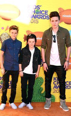 Romeo Beckham, Cruz Beckham & Brooklyn Beckham from 2015 Kids' Choice Awards | E! Online
