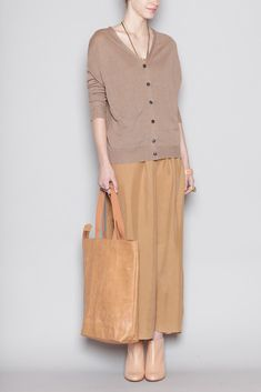 Wood Wood  Tote Bag (Tan Leather)