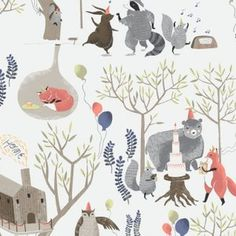 Treetop Party in Multi (Rae Ritchie - Foxtail Forest)