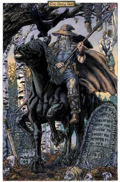 One of my all-time favorite images of Him! The Grey God, Odin by ~mlpeters on deviantART