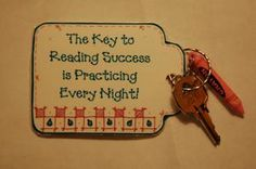 "wouldn't this be neat to hand out at literacy night?!  Or you could do it with a bag of PopSecret and the little tag could say ""the SECRET to reading success is practicing every night""...hmm I will think on this some more!"