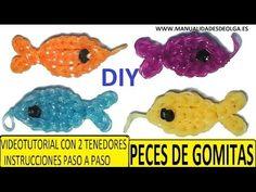 COMO HACER PECES DE GOMITAS (LIGAS) CHARMS CON DOS TENEDORES. (FISH CHARM) TUTORIAL DIY - YouTube