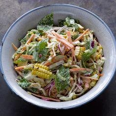 Grilled sweetcorn slaw I Ottolenghi recipes