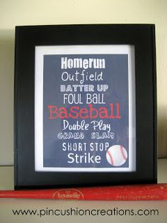 Pincushion Creations: free Baseball Printable