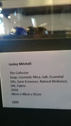 The Collector Name Plates - at Monsalvat Natural Impressions Art Exhibition by Lesley Mitchell and Denise Keele-Bedford