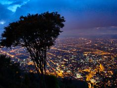 Bogota, Colombia from atop Montserrate.