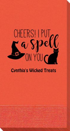 Personalized Spell On You Halloween Guest Towels