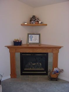 Our standard corner gas fireplace with tile surround, oak mantle and . Corner Fireplace, Decor, Home Fireplace, Faux Fireplace Mantels, Gas Fireplace, Contemporary Fireplace, Fireplace Decor, Fireplace Surrounds, Corner Gas Fireplace