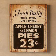 Vintage Farmhouse Fresh Pie Sign