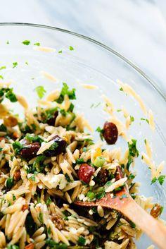 orzo salad recipe close-up